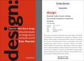 DESIGN - QUANDO TODOS FAZEM DESIGN - UMA INTRODUÇÃO AO DESIGN PARA A INOVAÇÃO SOCIAL
