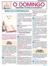 FOLHETO DE MISSA DA CONFIRMAÇÃO