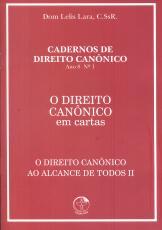 DIREITO CANONICO AO ALCANCE DE TODOS II, O  - EM CARTAS