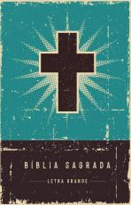 BÍBLIA RETRÔ TURQUESA, NVI, CAPA DURA, LETRA GRANDE, LEITURA PERFEITA